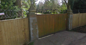 Back gate at Friar Park.